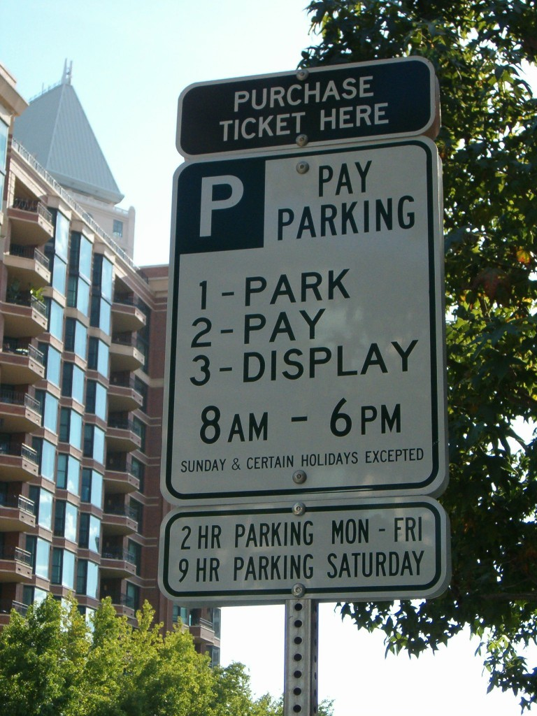 Paid-Parking Sign