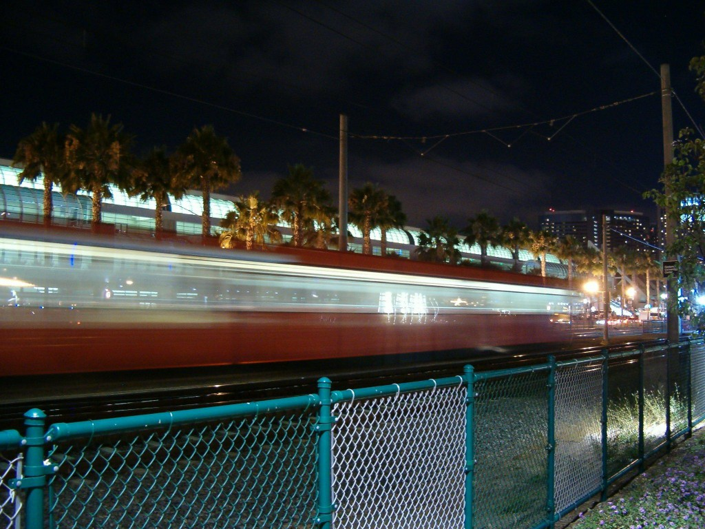 Trolley Going By