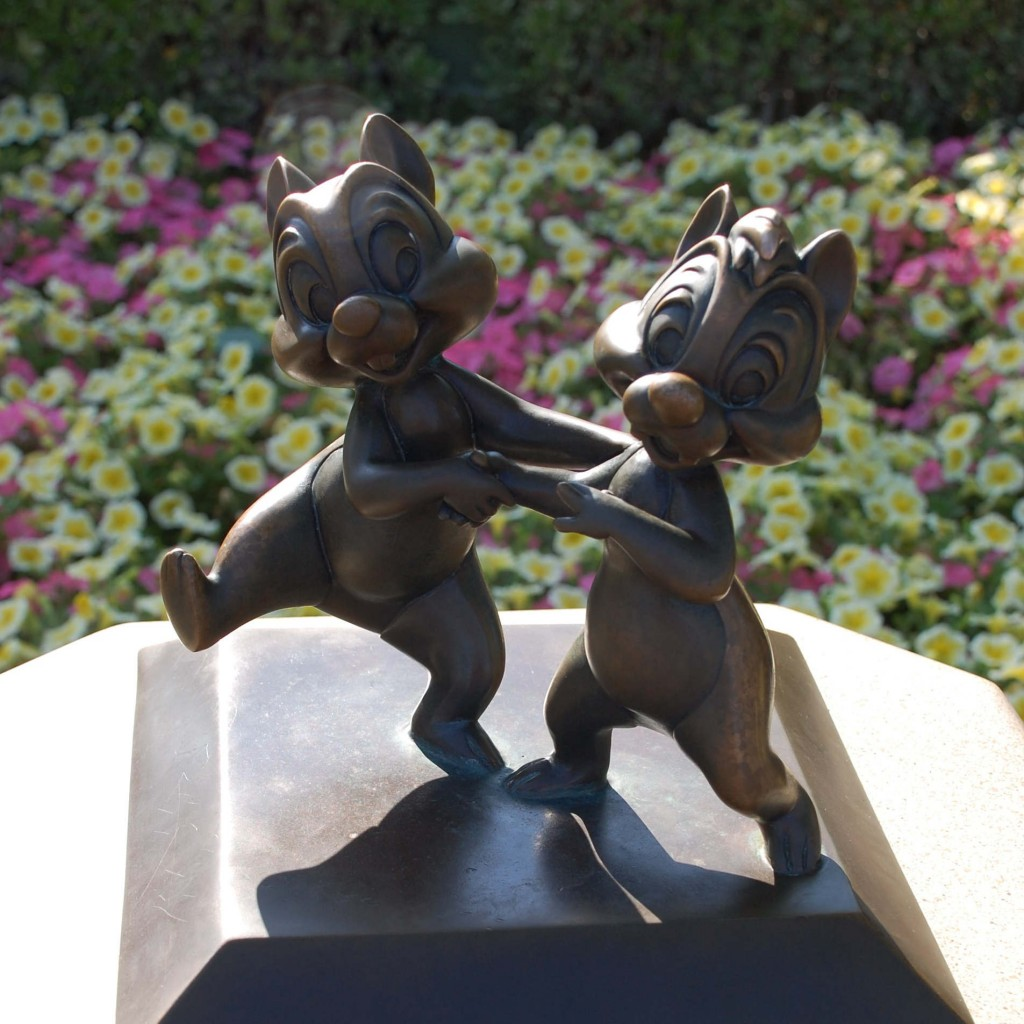 Chip and Dale Statue